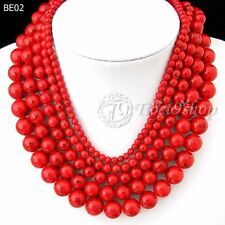 40cm/16inch Red Synthetic Turquoise Wholesale Beads String