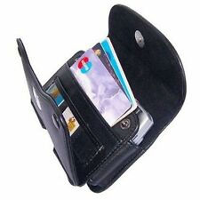 New Black Wallet Leather Pouch Holster Carrying Case Belt Clip for Cell Phones