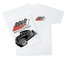 Solo Speed Shop 32 Ford Tee Shirt Hot Rod Gasser Classic Dragster Vintage