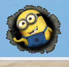 DESPICABLE ME 2 MINION Movie Decal Removable WALL STICKER Decor FREE SHIPPING