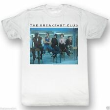 New Authentic Mens The Breakfast Club Posted Up Tee Shirt in White
