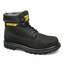 Caterpillar COLORADO Womens Ladies Nubuck Leather Lace-Up Work Ankle Boots Black