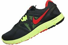 Mens Nike Lunarglide+ 3 Running Shoe Anthracite Chilling Red Black 454164-016