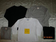 New Lot of 5 Old Navy Boy's Solid Long Sleeve Shirts  Size XS
