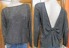 BCBGeneration Drapey Knotted Back Blouse Gold & Black NWT Various Sizes