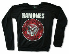 """RAMONES """"RED SEAL"""" BLACK LONG SLEEVE FASHION T-SHIRT NEW NWT OFFICIAL JRS"""