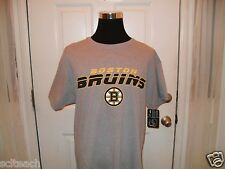 New w/Tag Boston Bruins ESPN FONT Logo Gray Hockey T-Shirt All Sizes Available