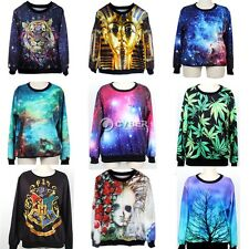 Womens Mens Space Galaxy Animal T shirt sweater Sweatshirt hoodie Pullover Tops