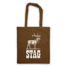 STAG SLOGAN STAG DO TOUR BEST MAN GIFT DEER CANVAS TOTE SHOPPING SHOPPER BAG