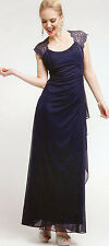3 COLORS FORMAL OCCASION MOTHER OF BRIDE / GROOM CLASSY EVENING LONG DRESS S-4XL