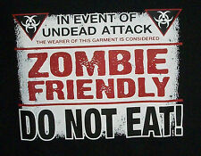 EVENT OF UNDEAD ATTACK ZOMBIE FRIENDLY DO NOT EAT YOUTH T-SHIRT HALLOWEEN DEAD
