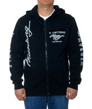 Ford Mustang Racing Hoodie Black Screen Printed Zip Hoodie Jacket Adult