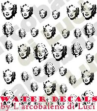WATER DECALS MARILYN MONROE STICKERS UNGHIE NAIL ART ADESIVI TATTOO DECAL NOVITà