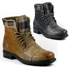 Polar Fox Men Lace Up Plaid Hiking Work Desert Ankle Boot Shoe MPX-508012
