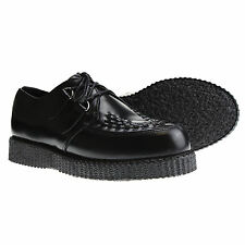 BOOTS AND BRACES Grimpante Creepers Chaussures Cuir Noir Neuf