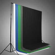 Muslin Photo Backdrop Background Studio Photography Blue Gray Black White 6x9 ft