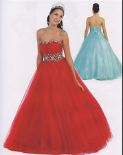 4 Color Quinceanera Ball Gown Dress Party Prom Evening Cocktail Pageant 4 TO 16