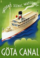 TR51 Vintage Sweden Gota Canal Swedish Travel Poster Re-Print A2/A3/A4