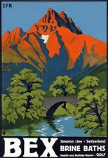 T69 Vintage Switzerland Bex Travel Poster Re-Print A1/A2/A3/A4