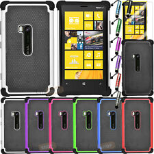 Rugged Impact Hybrid Hard Dual Layer Case Cover For Nokia Lumia 920 AT&T New