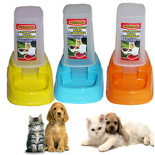 AUTOMATIC PET CAT DOG RABBIT FOOD WATER BOWL FEEDER DISPENSER EASY CLEAN TRAVEL