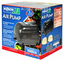 HOZELOCK AIRPUMP RANGE GARDEN FISH POND AIR PUMP AIRLINE + BUBBLE AIRSTONES LINE