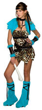 Barbarian Babe Cavewoman Cave Girl Fancy Dress Up Halloween Teen Adult Costume