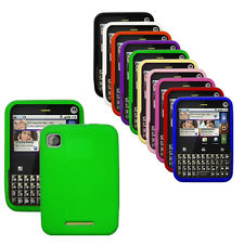 Silicone Soft Rubber Cover Case for Motorola Charm / MB502