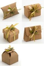 Natural DIY KRAFT Wedding Party Favour Gift Boxes Shabby Chic Vintage Corrugated