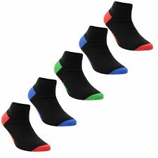 Slazenger Kids 5Pack Elasticated Opening Comfortable Everyday Trainer Socks