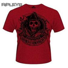 Official T Shirt SONS OF ANARCHY Outlaw RED BANNER Reaper All Sizes