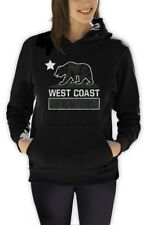 CALIFORNIA REPUBLIC BEAR distressed Women Hoodie LA CALI Diamond Kings Dope Flag