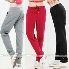 Womens Casual Drawstring Sweatpant Sports Harem Pants Trousers Gym Stretch Comfy