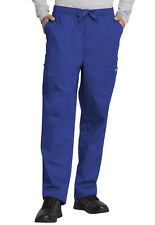 Galaxy Blue Cherokee Workwear Men 's Cargo Scrub Pants 4000 GABW