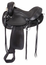 "Gaited Hornless Comfort Trail Saddle (Black or Brown) (15.5"" or 16.5"")"