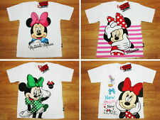 Minnie Mouse Girl White Cotton Top T-Shirt Size 6-12 age 4-12
