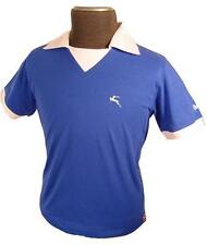 SALE! NEW MENS BUKTA RETRO INDIE 70S STYLE FOOTBALL T-SHIRT TEE TOP Best BLUE