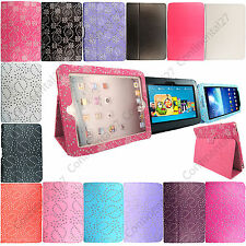 New Diamond Sparkly Glitter Bling PU Leather Flip Case Cover Fits For Tablet Pc