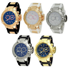 Geneva Heavy Case Hard Rubber Oversized Sport Men's Watch - 5 Color Choice