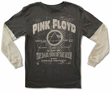 """PINK FLOYD """"SONG TITLES"""" TWOFER GREY/TAN LONG SLEEVE T-SHIRT NEW OFFICIAL ADULT"""