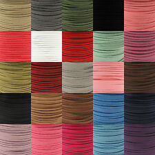 100 Yard (92 Meter) 3mm Faux Suede Cord Thong Lace Roll/Reel - Jewellery String