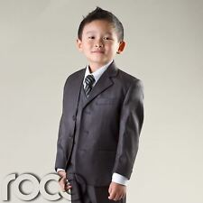 Boys Grey Suit, Prom Suit, Boys Wedding Suit, Page Boy Suits, Age 1-12 years