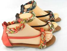 Women's Small Wedge Braided Tropical Roman Gladiator Sandal Shoes Size 5-11