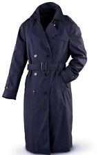 USAF Air Force Women's Dress Uniform Blue Trench Overcoat Allweather Coat