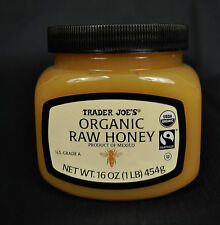 Trader Joe's Joes Organic Raw Honey US Grade A 16 OZ 1 LB