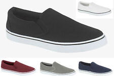 93Q MENS CANVAS SLIP ON PLIMS PLIMSOLE PLIMSOLLS TRAINERS SHOES PUMPS UK 7-12