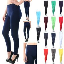 Seamless Basic PLAIN SOLID SPANDEX Tights Leggings Pants Stretchy ONE SIZE