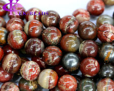 Natural Silver Leaf Jasper Round Loose Stone Beads 2-14mm Discount for Wholesale