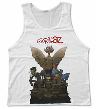 "GORILLAZ ""GARGOYLE"" WHITE TANK TOP SHIRT NEW OFFICIAL ADULT BAND"
