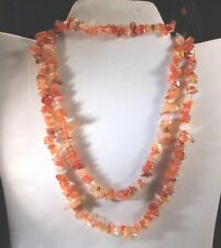 Chip Style Endless Strand Natural Gemstone Necklace & Bracelet In Box